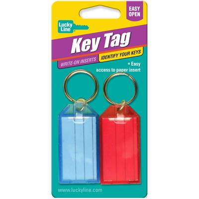 Lucky Line Key ID Tag with Flap- 2 to a Card Assorted Colors