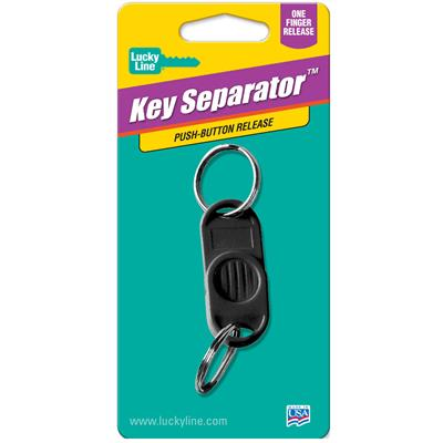Lucky Line Two Part Plastic Key Separator 1/Card Assorted Colors