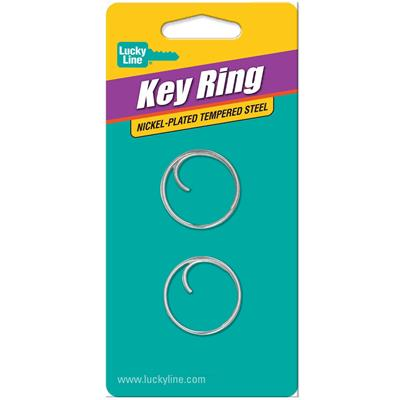 Lucky Line Easy Open Tang Ring 1 Inch Diameter 2/Card