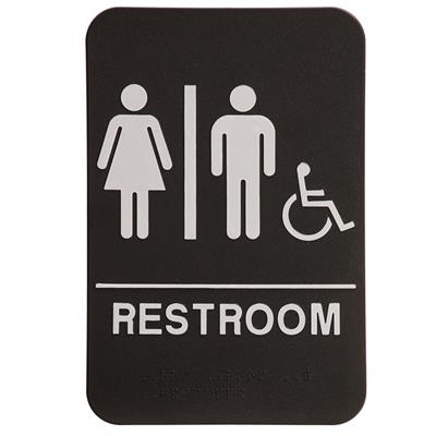 """6"""" x 9"""" Molded ADA Compliant Sign - Restroom with ..."""