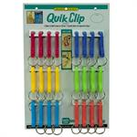 Lucky Line Plastic Quik Clip 24 to a Card Assorted Colors