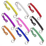 Plastic Snap Clip with Coil Individual Colors 12/Pack