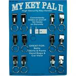 Key Support II Belt Key Holder Slip On Chrome 12/Card