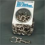 Large Chrome Economy Snap Clip Key Chain 36/Jar Display
