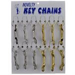 Double End Snap Clip Keychain Mixed Assortment