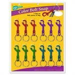 Lucky Line Color Bolt Snaps Metal 12 to a Card Assorted Colors