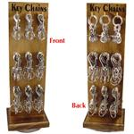 Metal Snap Clip Key Chains Display Rack