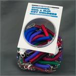 Plastic Coil Keychain with Mini Metal Snap Clip 60/Jar