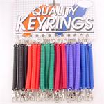 Plastic Coil Keychain With Mini Metal Snap Clip 24 Card