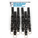 Nylon Belt Strap Key Holder with Removable Ring 12/Card