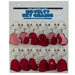 Stained Glass Heart Shape Key Ring-12/Card