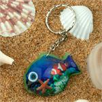 Tropical Fish Acrylic Keyring