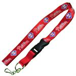 Philadelphia Phillies MLB Logo Lanyard Keychain-Red