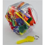 Big Plastic Key Keyring 36 Jar