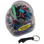 EZ Pop Bottle Opener Keychain 60 Jar