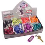 Key Identifier Tag Plastic With Swivel Assorted Colors