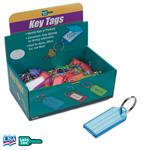 Lucky Line Standard Key Tag with Split Ring Box of 100 - ASSORTED COLORS