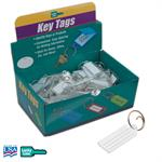 Lucky Line Standard Key Tag with Tang Ring Box of 100 - CLEAR Only