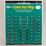 Lucky Line Flex-O-Loc Cable Key Ring with Ball-Knob and Socket Closure 24 Card ASSORTED Colors