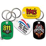 Custom Printed Soft Touch Key Ring - Rounded Rectangle