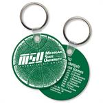 Custom Printed Soft Touch Key Ring - Large Round