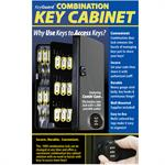 Metal Key Cabinet with Combination Lock - 48 Hooks