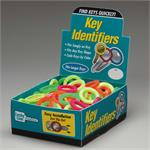 Lucky Line Large Key Identifier Rings USA MADE 150/Box ASSORTED Neon Colors