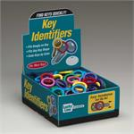 Lucky Line Medium Key Identifier Rings USA MADE 200/Box ASSORTED Standard Colors