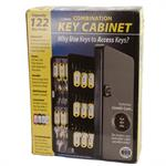 Metal Key Cabinet with Combination Lock - 122 Hooks