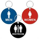 Engraved 3 Inch Round Restroom Key Tags